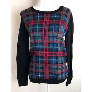 Tommy Hilfiger • Red/Navy Plaid Crewneck Sweater